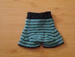 Black Ocean Soaker Shorts, back panel
