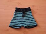 Black Ocean Soaker Shorts, 100% Wool