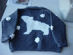 back of Polar Bear Sweater
