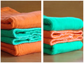Dyed Cloth Diapers- Premium Kelly Green, Deep Orange
