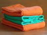 Dyed Prefold Premium Cloth Diapers- Deep Orange, Kelly Green