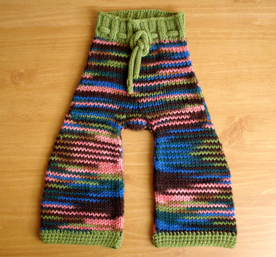 Joven's Knit Wool Pants have a crotch gusset and short rows on the back.