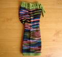 Earth's Bliss Knit Wool Pants- machine knit body, hand knit ribbing