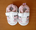 Shoo Shoos Soft Soled Shoes- White Pink Sandals
