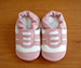 Shoo Shoos Soft Soled Shoes- White-Pink Sports