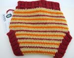Crimson Sunburst Crocheted Soaker- back