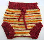 Crimson Sunburst Wool Soaker